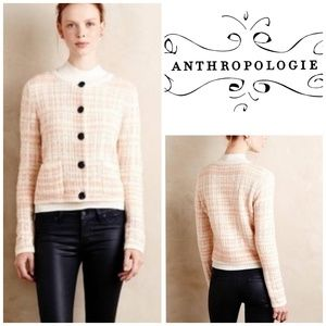 KNITTED and KNOTTED Antrho Plaid Boucle Cardigan
